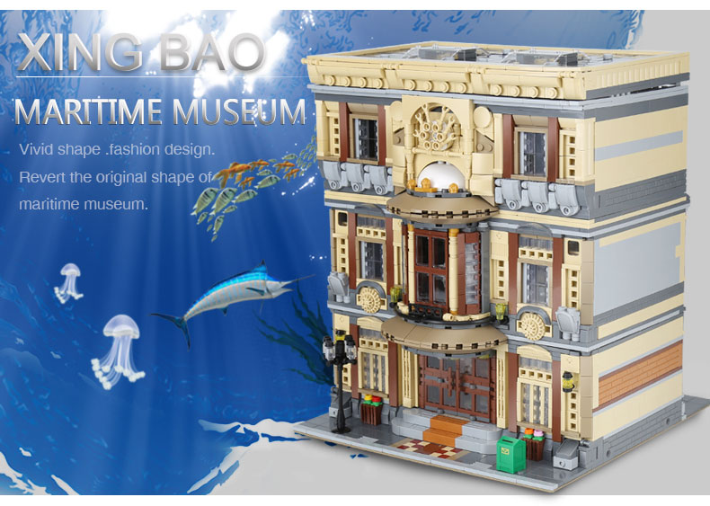 XINGBAO 01005 MARITIME MUSEUM Building Bricks Set