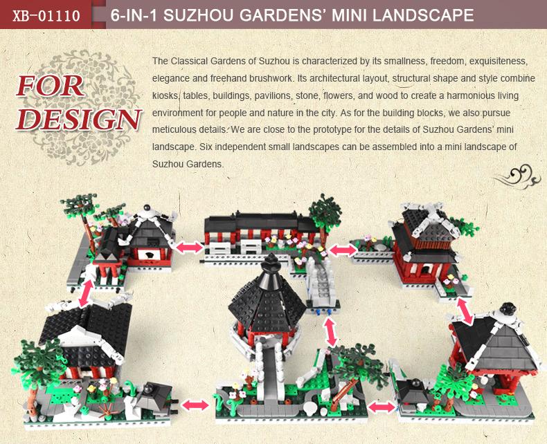 XINGBAO 01110 Garden Suzhou Building Bricks Set