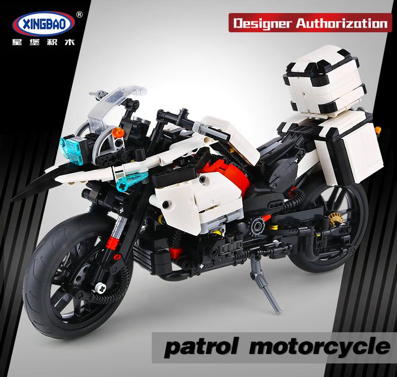 XINGBAO 03019 Patrol Motorcycle Building Bricks Set