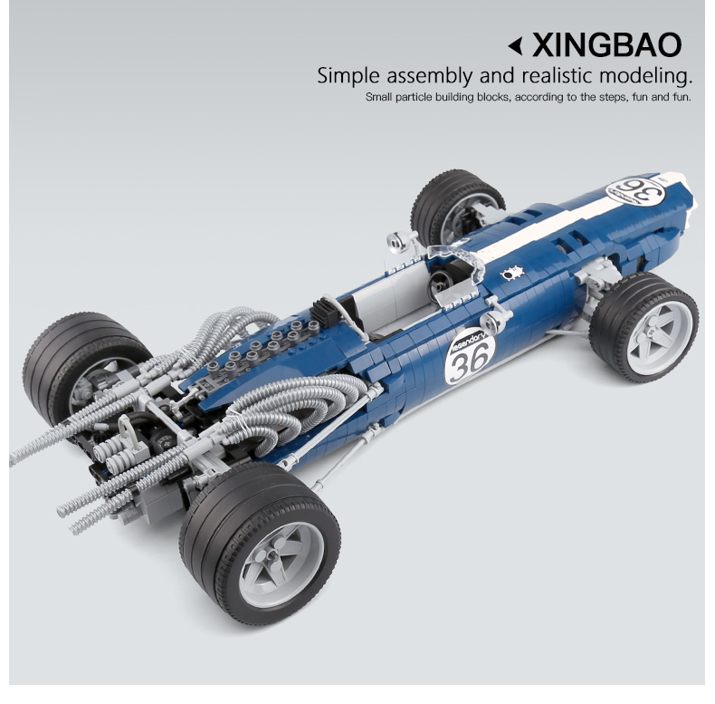 XINGBAO 03022 Blue Sonic Racing Cars Building Bricks Set