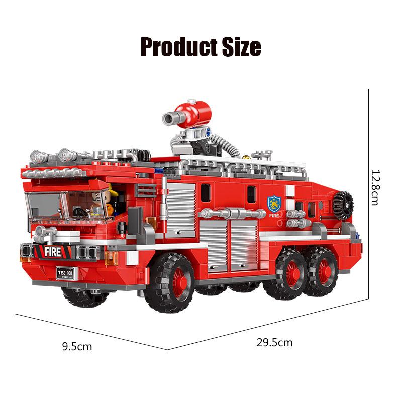 XINGBAO 03030 Feuerlöschwassertank Feuerwehrauto Bausteine Spielzeugset