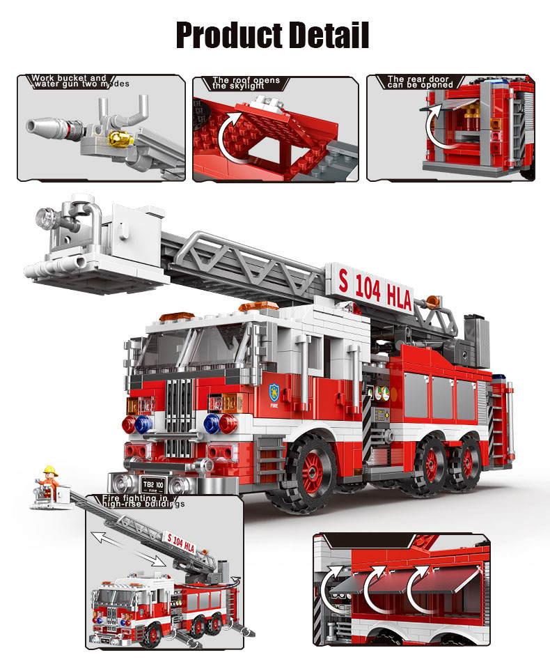 XINGBAO 03031 Feuerlöschleiter Feuerbausteine Spielzeugset