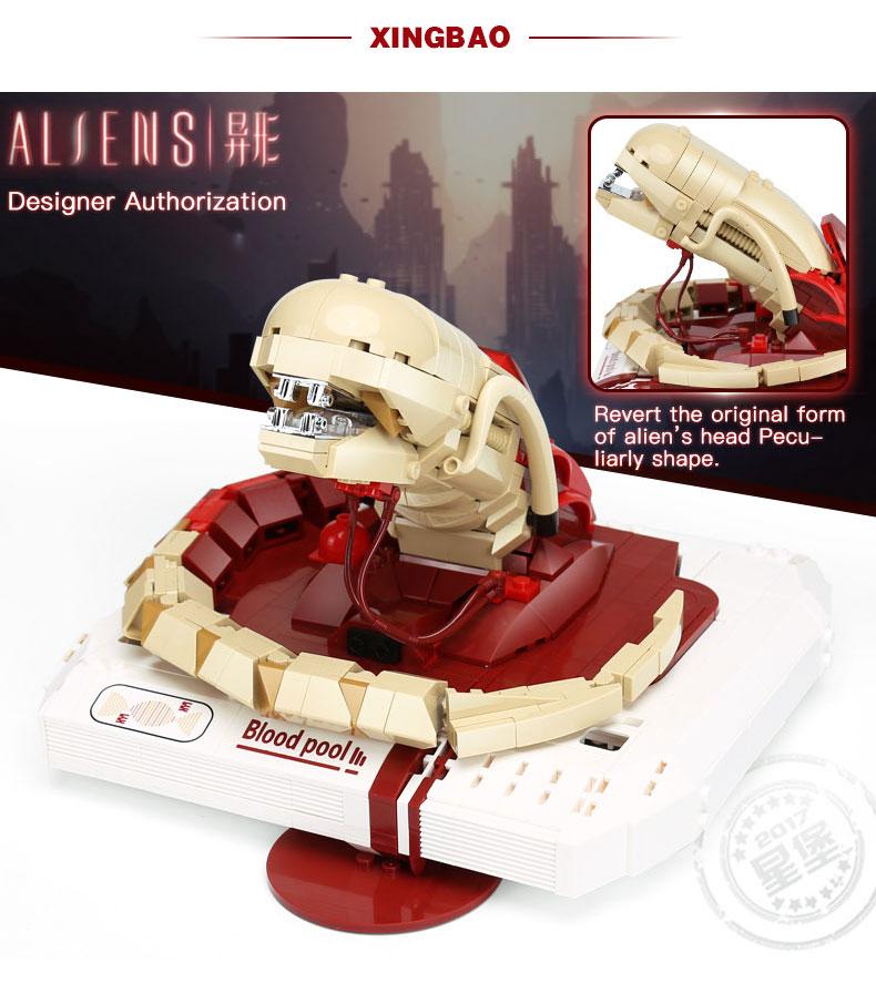XINGBAO 04002 Alien Chestbuster Building Bricks Set