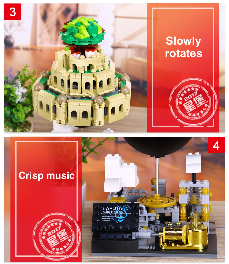XINGBAO 05001 Castle In The Sky Building Bricks Set