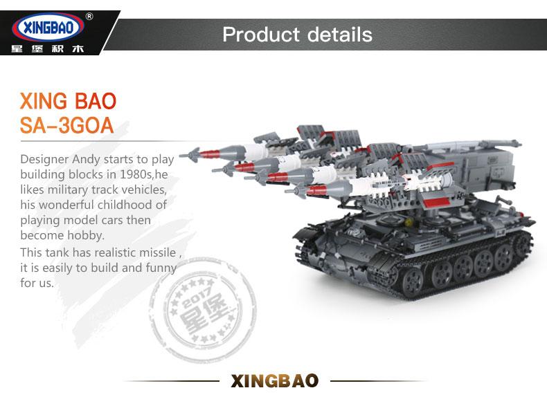 XINGBAO 06004 Sa-3 Goa Building Bricks Set