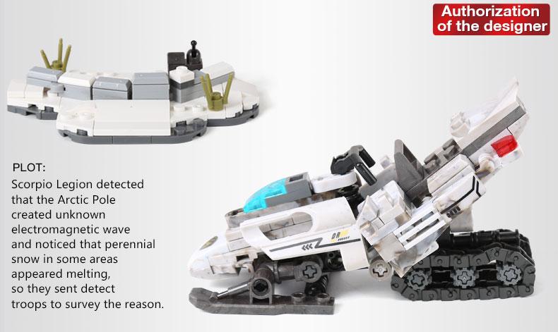 XINGBAO 06009 Extreme Snowmobiling Building Bricks Set