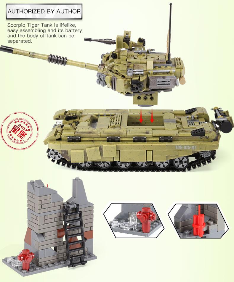 XINGBAO 06015 Scopio Tiger Tank Building Bricks Set