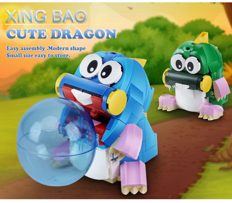 XINGBAO 11001 Cute Dragon Building Bricks Set