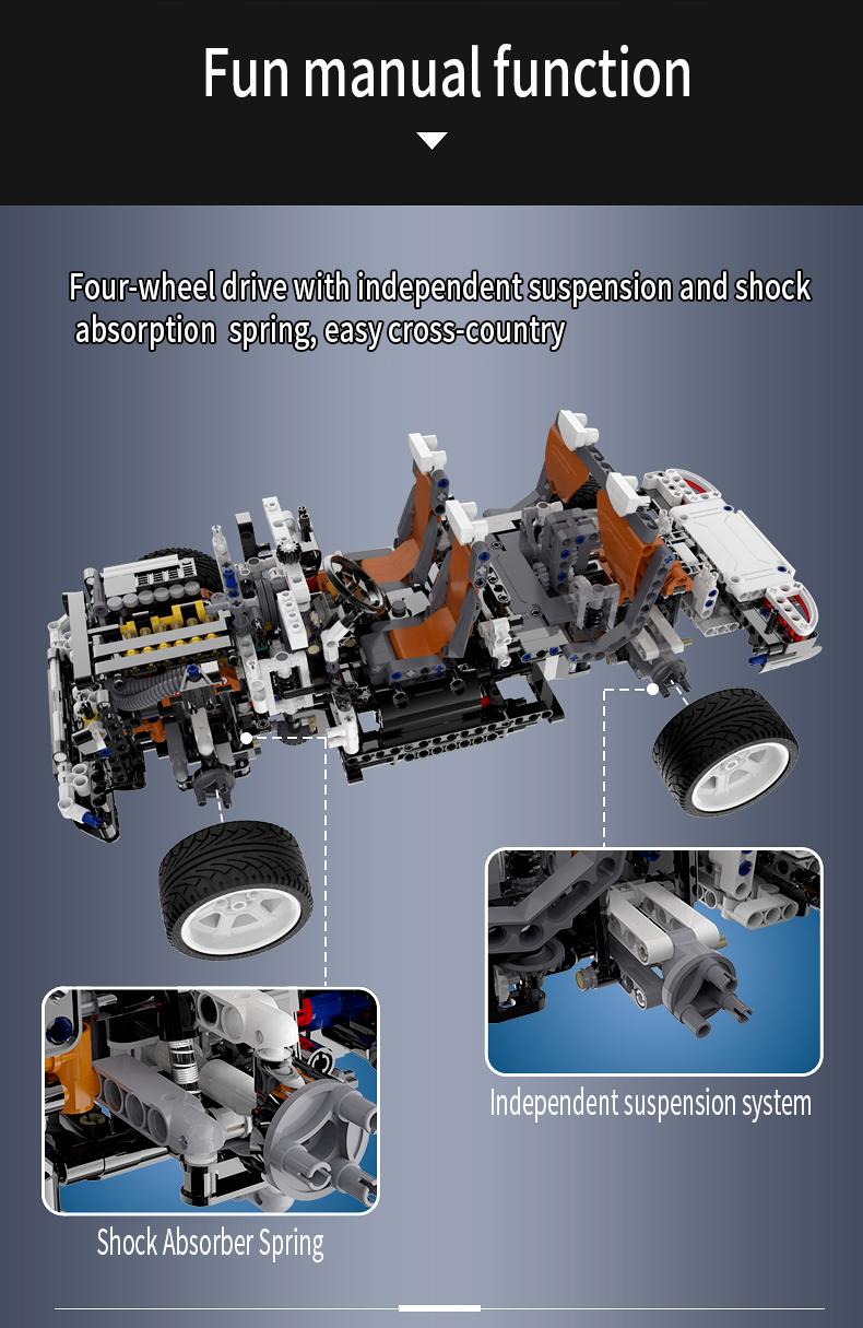 CaDA C61007 G5 SUV 4WD Off-Road Vehicle Building Blocks Toy Set