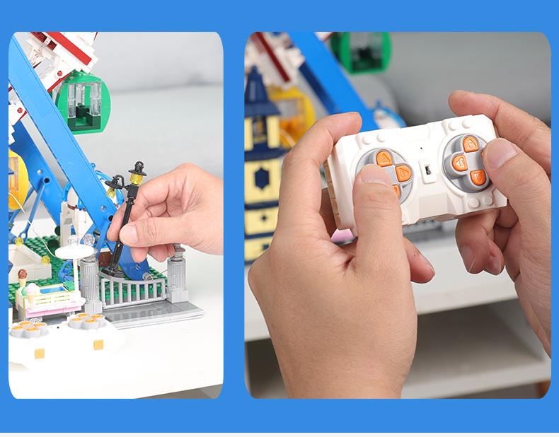 MOULD KING 11006 Fantasyland series Ferris Wheel Building Blocks Toy Set