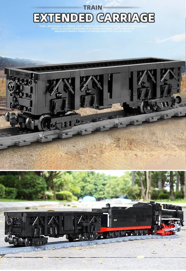 MOULD KING 12003 QJ Steam Locomotives Remote Control Building Blocks Toy Set