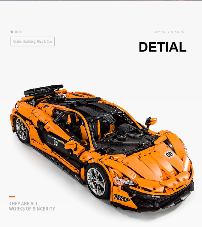 MOULD KING 13090 McLarening P1 hypercar Racing Car Building Blocks Toy Set