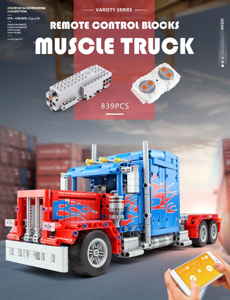 MOLD KING 15001 Muscle 379 Peterbilt Truck von Steelman14a Bausteine-Spielzeug-Set