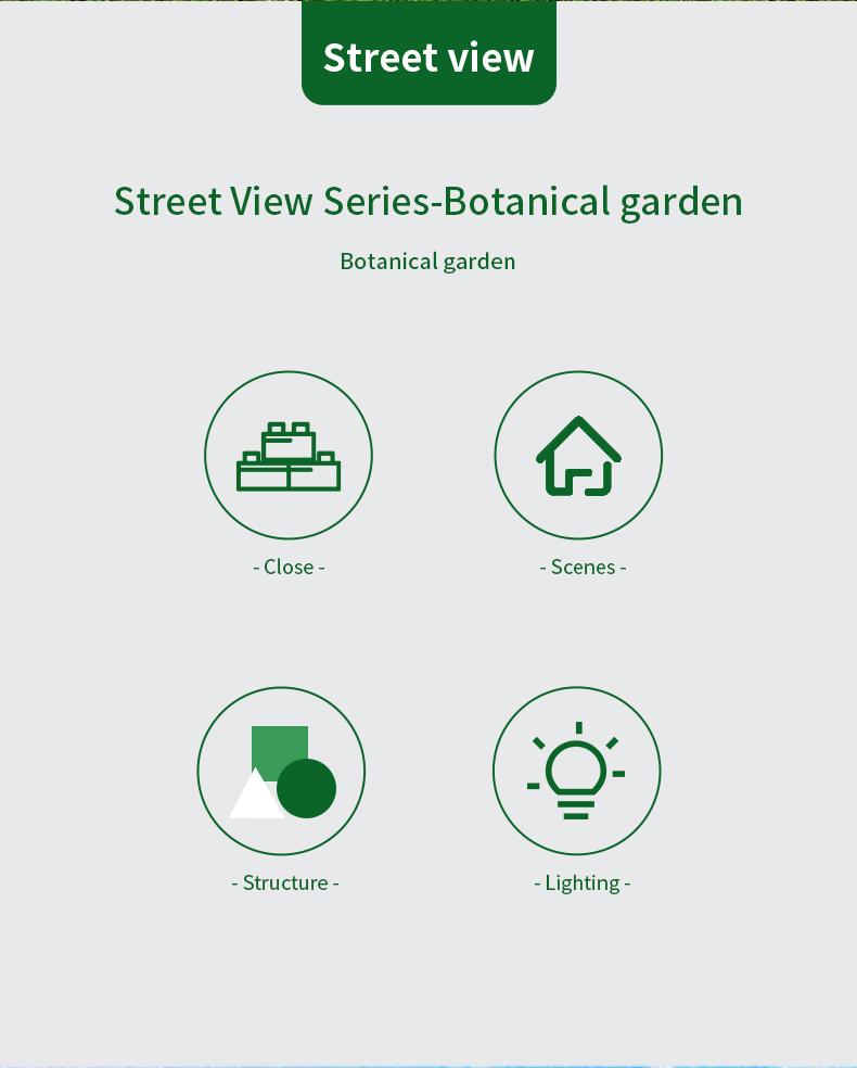 MOULD KING 16019 Botanical Garden Garden Nova Town Building Blocks Toy Set