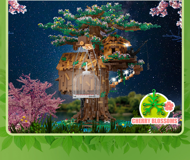 MOULD KING 16033 Street View Series Tree House Building Blocks Toy Set