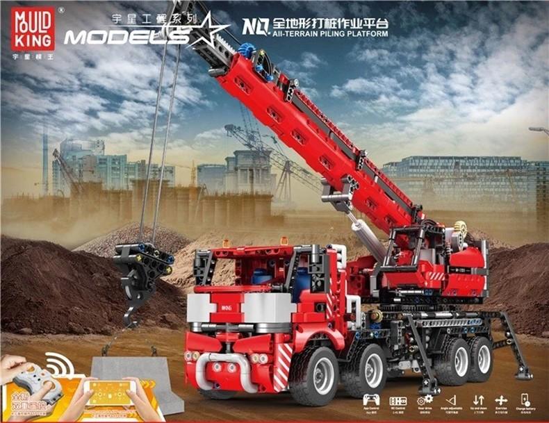 MOLD KING 17003 All Terrain Piling Platform Bausteine-Spielzeug-Set