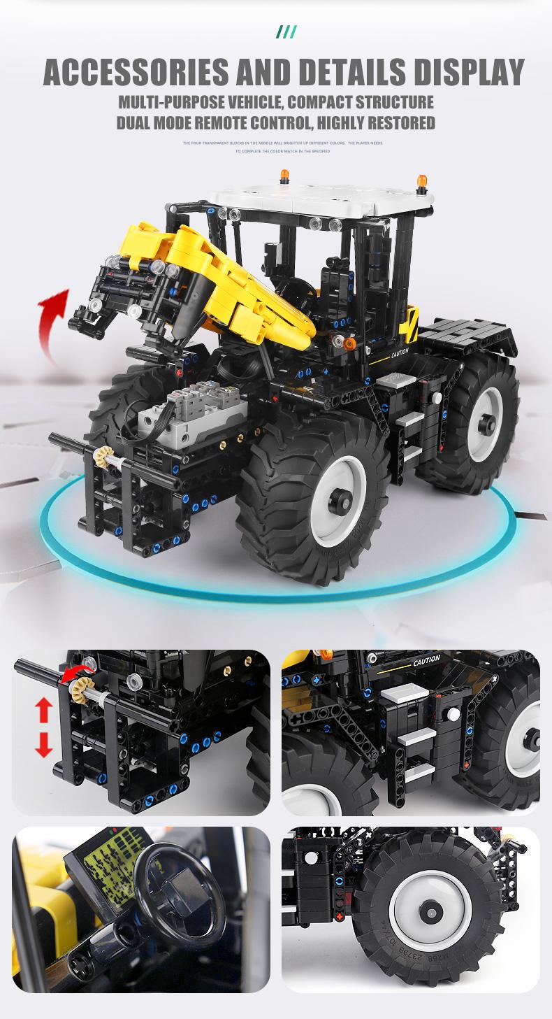 MOLD KING 17019 Hochgeschwindigkeitstraktor-Bausteine-Spielzeug-Set