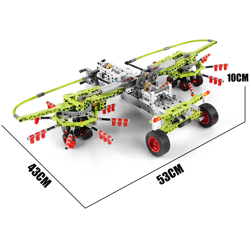 MOULD KING 17021 Tractor Extension Tool Building Blocks Toy Set