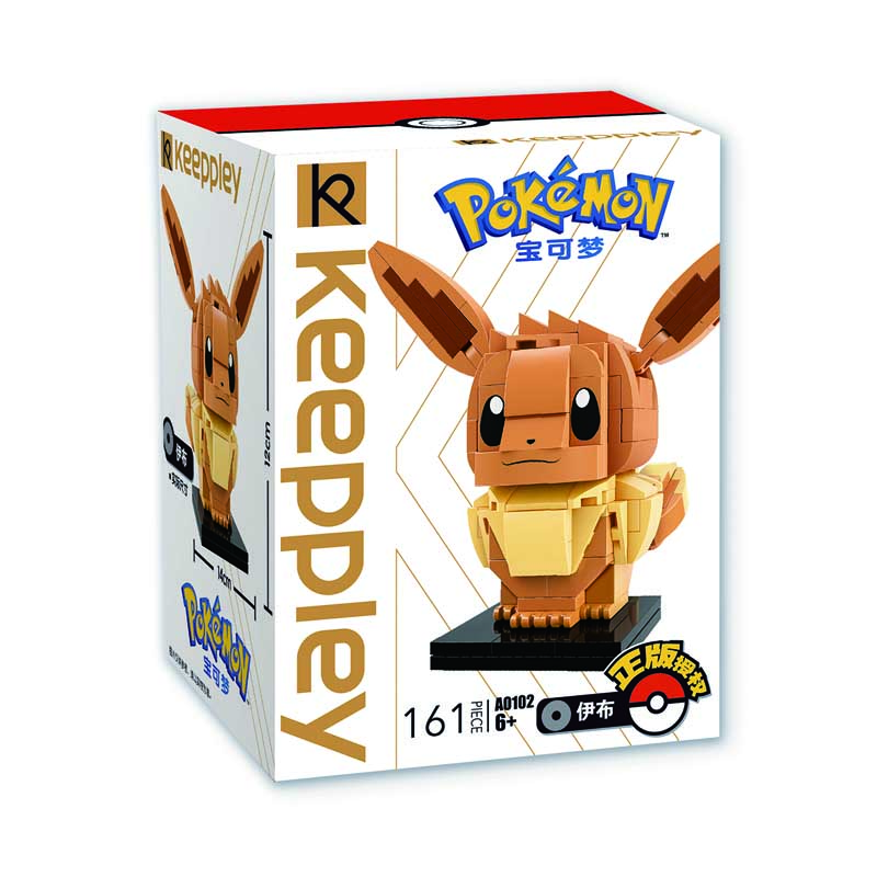 Keeppley Pokemon A0102 EeVee Qman Building Blocks Toy Set