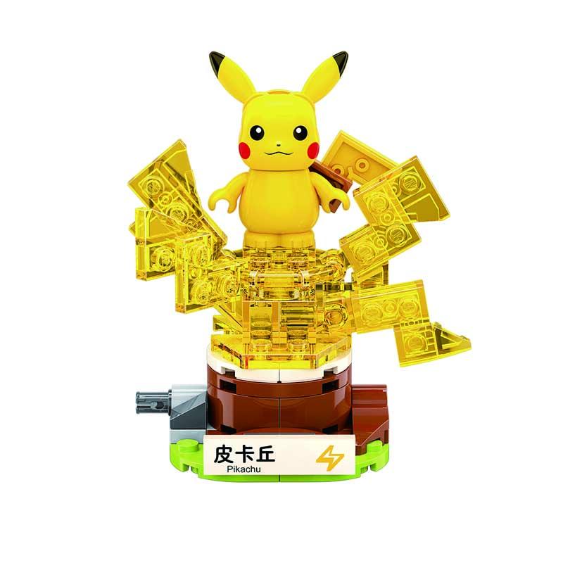 Keeppley Ppokemon B0101 Pikachu Qman Building Blocks Toy Set