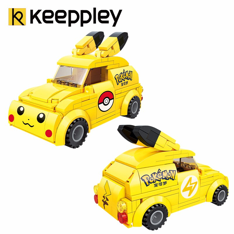 Keeppley Ppokemon K20205 Pikachu Minicar Qman Building Blocks Toy Set