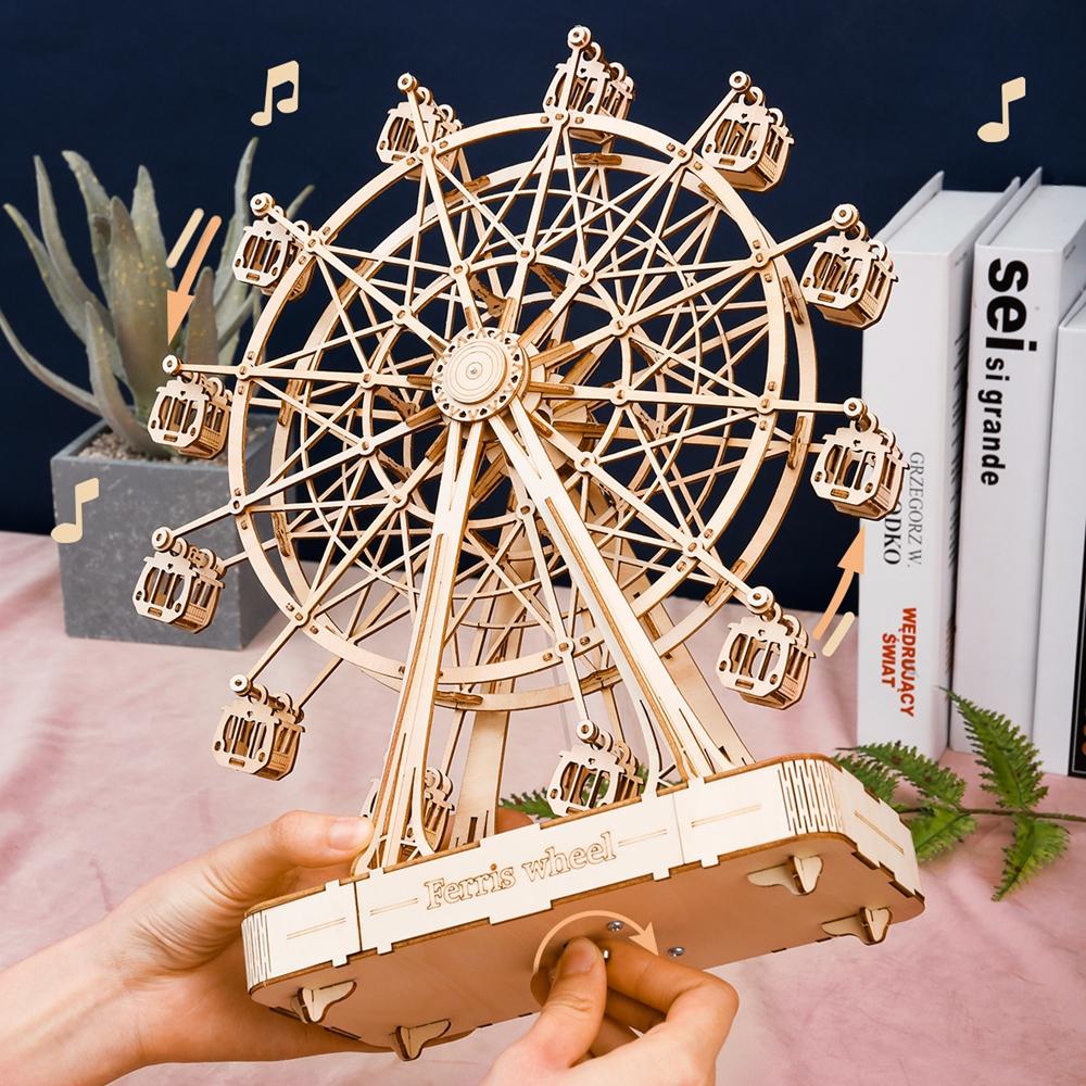 ROKR 3D Puzzle 3D Ferris Wheel Wooden Building Toy Kit