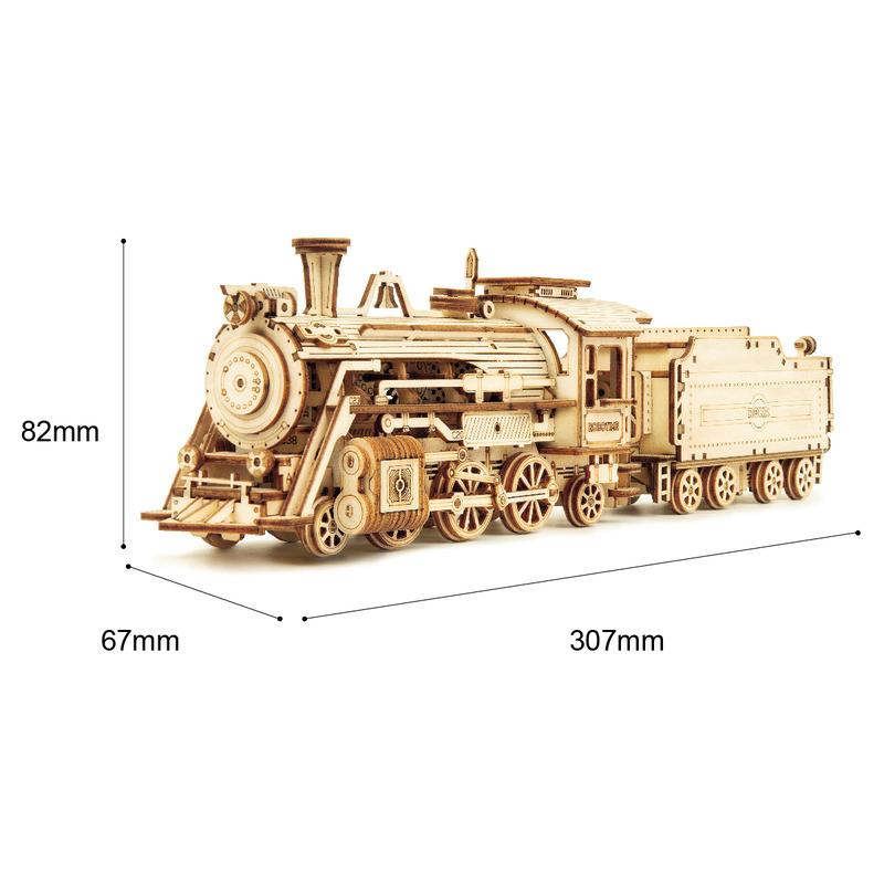 ROKR 3D Puzzle 6 Kinds DIY Laser Cutting Mechanical Model Wooden Building Toy Kit