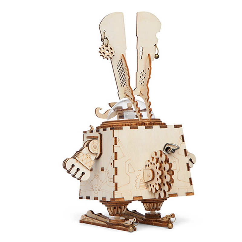 ROKR 3D Puzzle Steampunk Rabbit Wooden Building Toy Kit