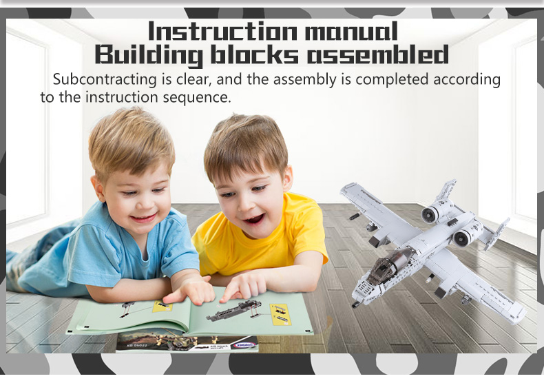 XINGBAO 06022 A10 Combat Aircraft Building Bricks Set