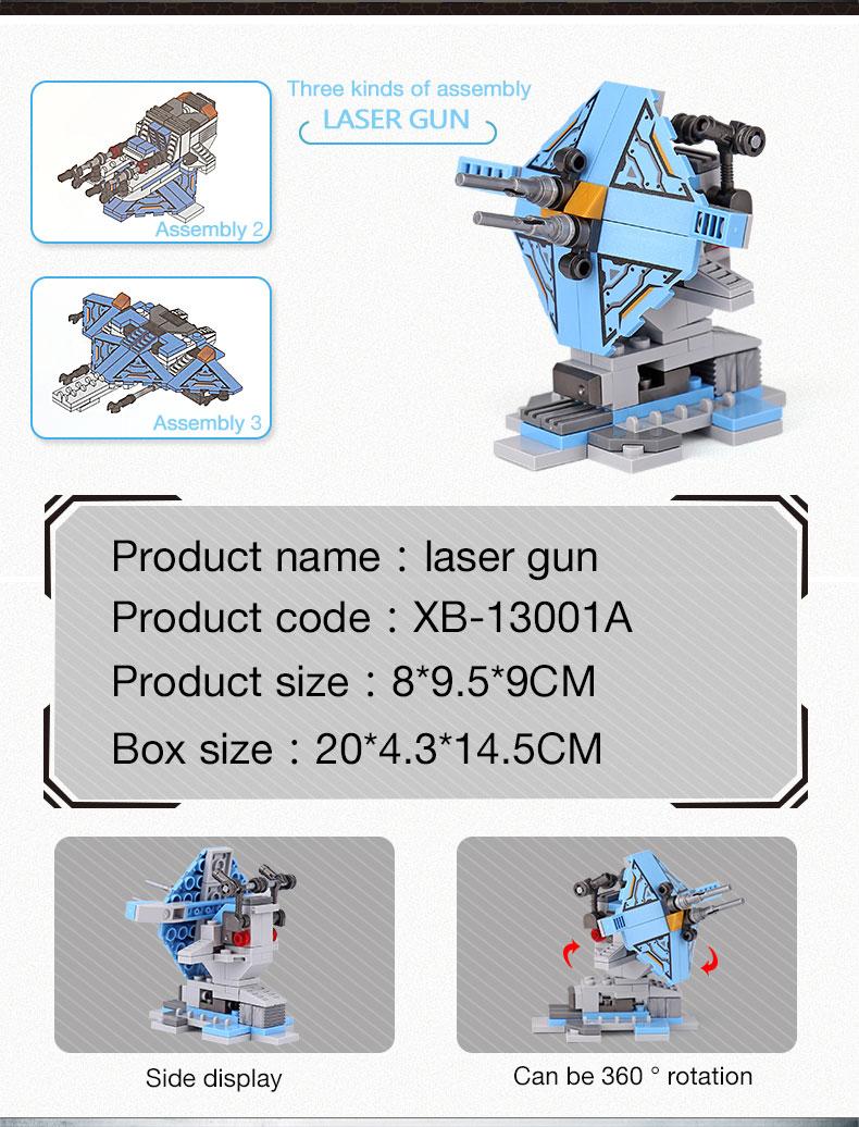 XINGBAO 13001 Battleship Building Bricks Set