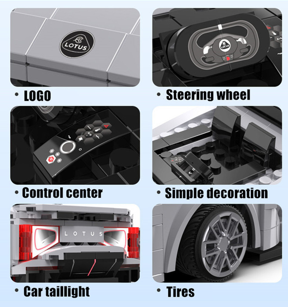 CaDA C51071 APP Programming Remote Control Sports Car Building Block Toy Set