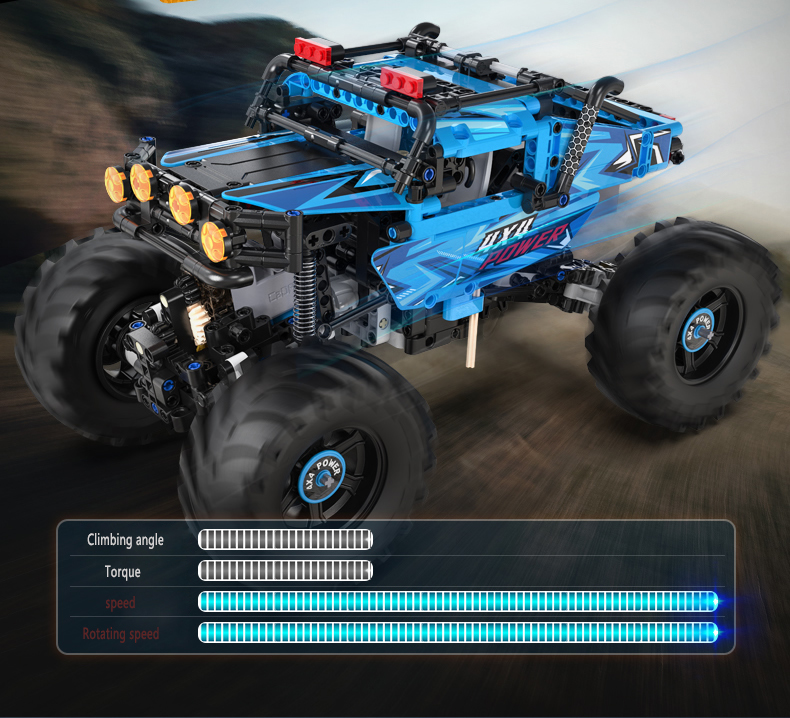 CaDA C61008 4WD Off-road Building Blocks Remote Control Car Building Block Toy Set