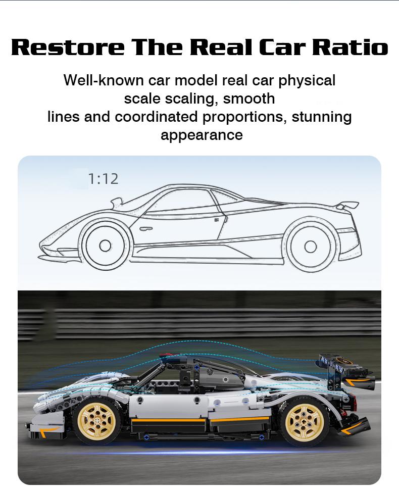 CaDA C61030 Z-Wind High-Tech Famous Racing Building Block Toy Set