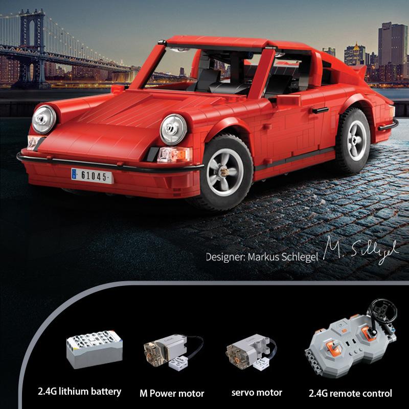 CaDA C61045 Retro Sports CarBuilding Blocks Toy Set