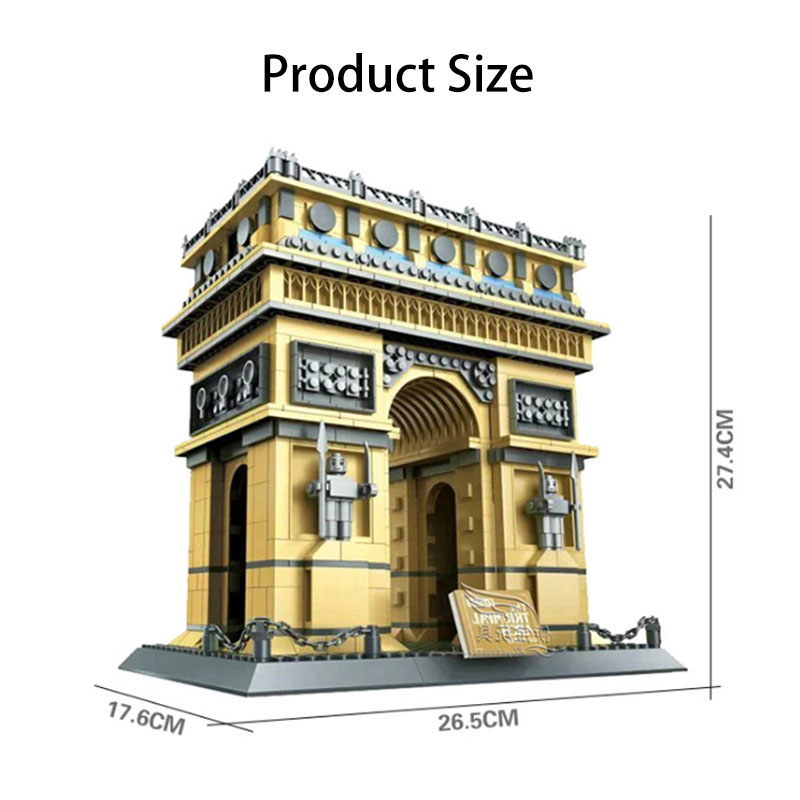 WANGE Architecture Paris Arc De Triomphe 5223 Building Blocks Toy Set