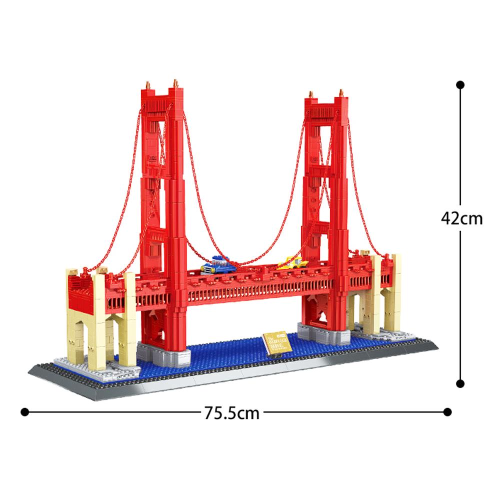 WANGE Street View Series Golden Gate Bridge Model 6210 Building Blocks Toy Set